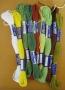 Bavlnky ke gobelínu - 2453 - květináč - macešky