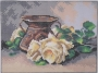 Catherina Klein - Zátiší se žlutými růžemi