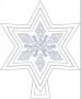 Hvězda - menší - šesticípá