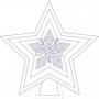 Hvězda - větší - pěticípá