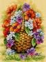 Košík s květy