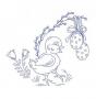 Kuřátko s vajíčky
