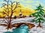 Můstek v zimě