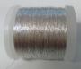 Metalická niť - stříbrná