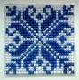 Modro-bílý ornament