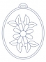 Ovál - kytička 1