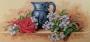 Paul de Longpre - Zátiší s květinami a džbánem