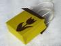 Taška žluto-hnědá s tulipánem